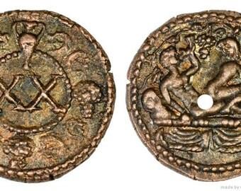 Roman Spintria Brothel Entry Token XX Bronze