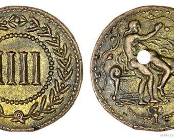 Roman Spintria Brothel Entry Token IIII Bronze