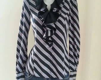Vintage Pinky&Dianne Striped Blouse Size 38  Small.
