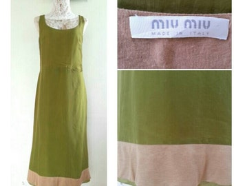 Vintage MIU MIU Silk dress / Day Dress Size  42
