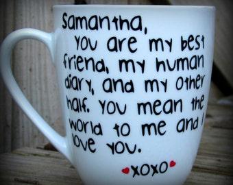 Valentines Gift, Valentines Mug, Bestie mug, Bff gift, Gift for her, Friendship gift, Gifts for him, Personalized Friend gift, Friend mug