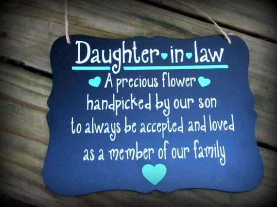 Wedding Gifts For Daughter In Law : ... law gift, soon to be daughter in law, bride to be gift, wedding gift