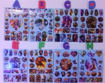 League Of Legends Sticker Sheets {Lt Blue}