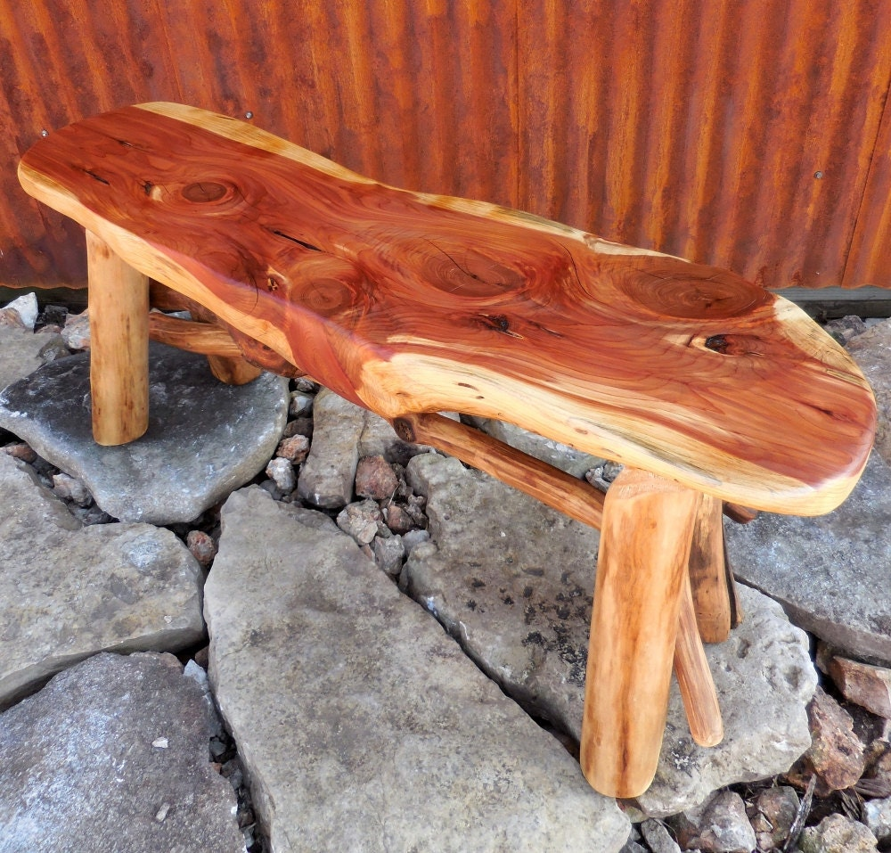 Reclaimed Wood Bench Wood Slab Bench Reclaimed Wood By Woodzyshop