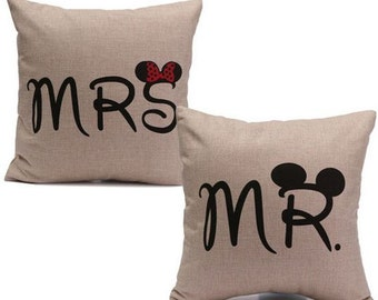 Mr. &  Mrs. Mouse - Pillow Covers (2)