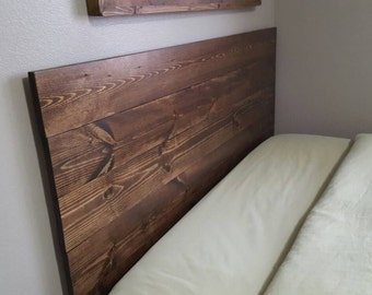 Queen, twin size, king, full planked wood headboard, rustic headboard,  custom
