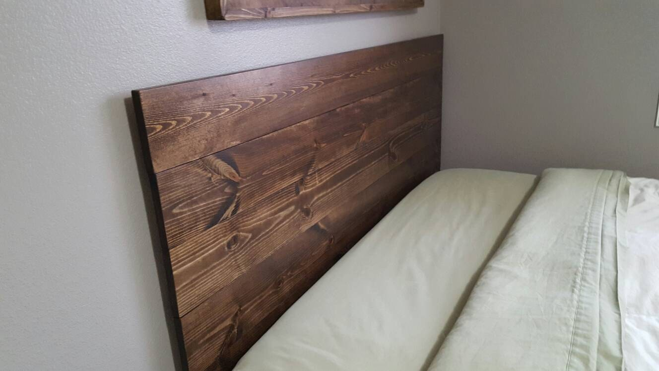 queen twin size king full planked wood headboard rustic. Black Bedroom Furniture Sets. Home Design Ideas