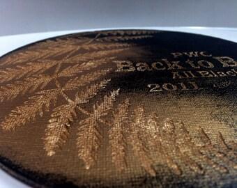 All blacks souvenir, RWC 2015, Rugby World Cup Final, Laser Engraved, Canvas, Collectable, New Zealand Souvenir, Memorabilia, Black & Gold