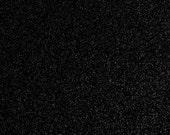 FINE glitter fabric sheet. Black A4 sheet. JR09153