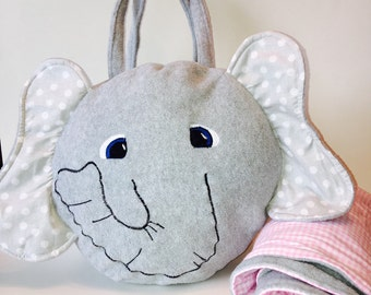 Toddler pillow and blanket | daycare blanket | travel pillow | elephant pillow | personalized pillow | personalized blanket