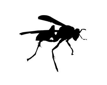 Wasp, Buzzing Bee, Yellow Jacket, Hornet - Di-Cut Design - Car/Truck/Home/Laptop/Computer/Phone Decal