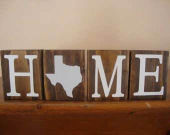 Texas Blocks. Home Blocks. Texas Decor. Home State Decor. Rustic Decor. Wood Blocks. TX Decor. TX Blocks