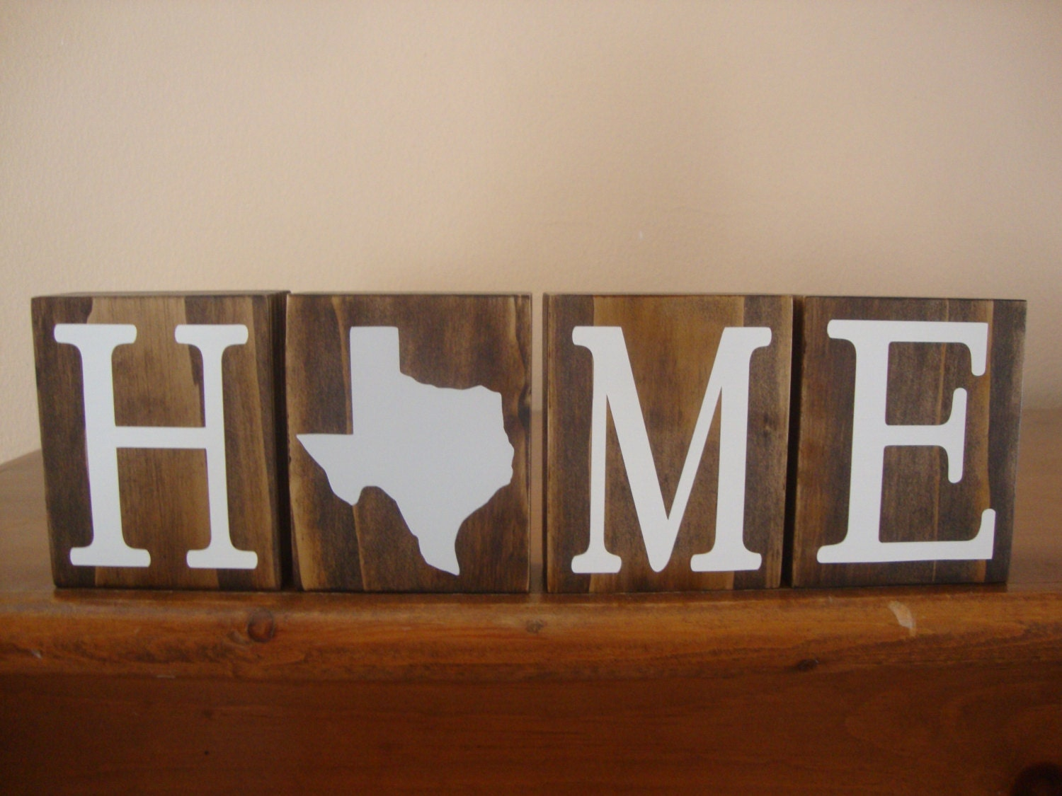 texas blocks home blocks texas decor home state decor texas state wood art rustic personalized home decor by
