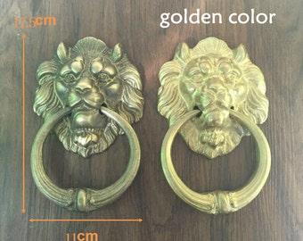 1 pcs brass door knocker,hand door knocker,brass door knockers,metal door knocker,animal door knocker,door knocker hoops,lion doorknocker