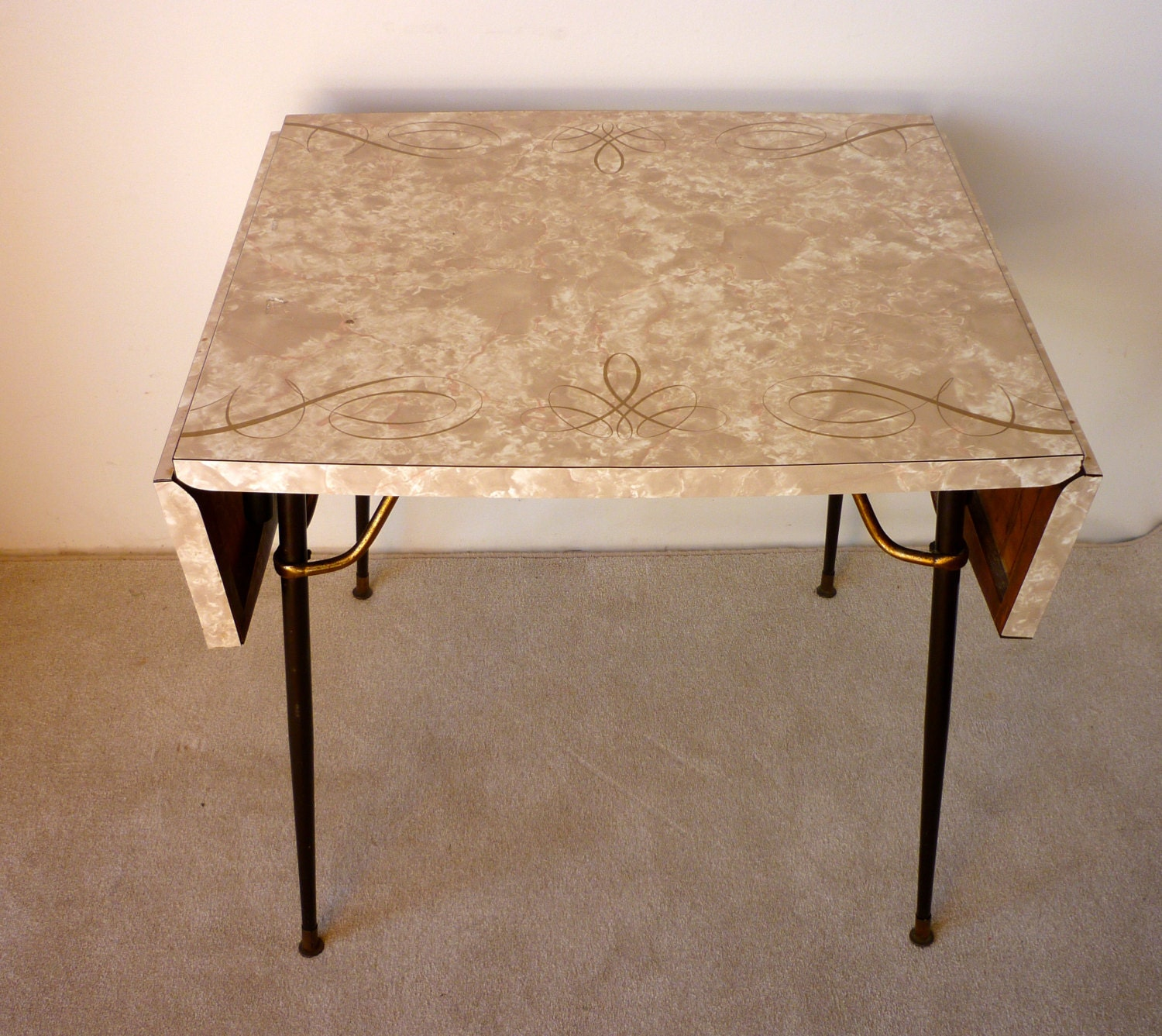 Old Kitchen Table: Vintage Retro Formica Table Mid Century Formica Kitchen