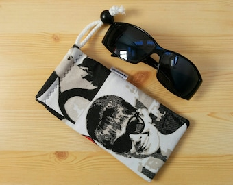 Glasses case,sunglasses case,audrey hepburn,audrey case,quilted glasses case,sunglasses cover,glasses bag,glasses soft case,audrey bag