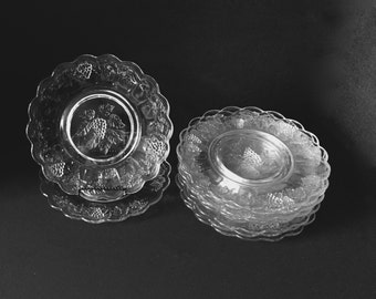 Paneled Grape Luncheon Plates  by Westmoreland