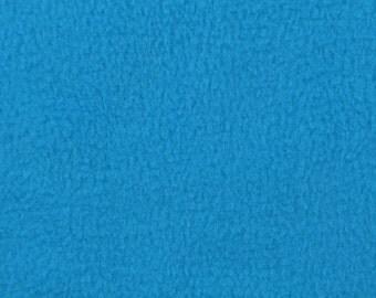 Turquoise Fleece Fabric - by the yard