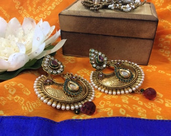 1 gm gold plated Chand Bali
