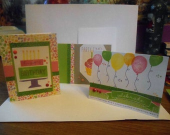 3 Birthday card pack