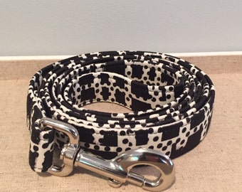 Black & White Geometric Print Leash