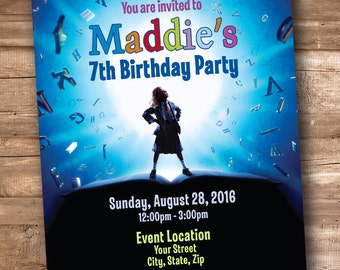 Matilda the Musical Party Invitation *Personalized Digital Printable*