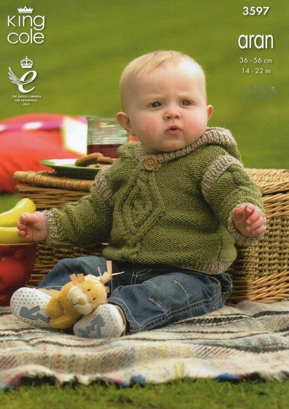 Download Knitting Patterns King Cole : King Cole Baby Sweater Hoodie & Pullover Aran Knitting