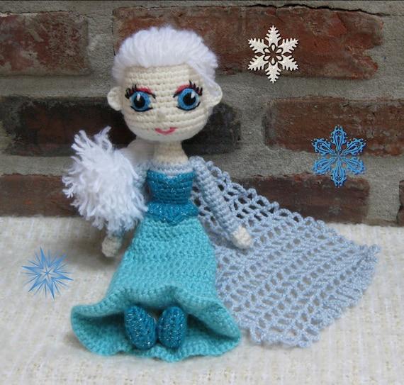 PATTERN Snow Queen Elsa Amigurumi Crochet Doll Photo by ...