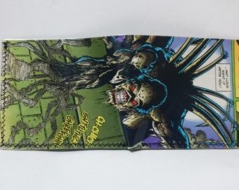 spiderman enemy - comic book wallet, slim wallet, hanmade wallet, card holder, thin wallet, vinyl wallet, mens wallet, comic book wallet