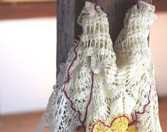NET embroidered doilies shopping