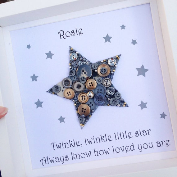 New Baby Gift Nursery Wall Art Star By Craftylittlemonkey14