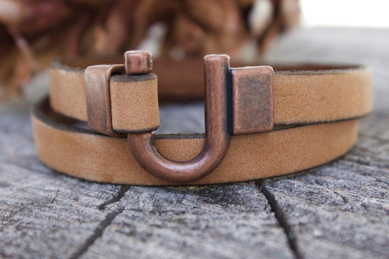 mens copper bracelet copper gifts for men mens leather. Black Bedroom Furniture Sets. Home Design Ideas