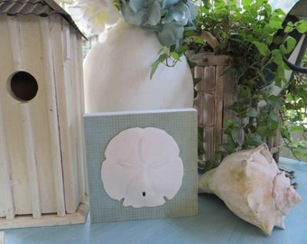 Sand Dollar Wood Plaque, Beach Wall Decor, Coastal Living, Sand dollar decor, Beach House Decor