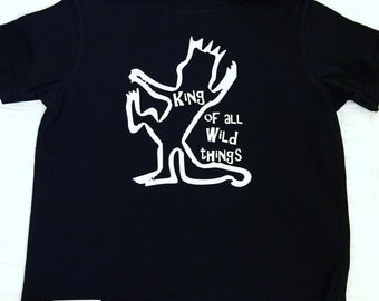 Where the wild things are bodysuit or tee with or without headband. King if the wild things. Wild things tee