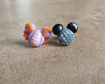 Figment Dragon and Epcot Ball(Spaceship Earth) Mickey Mouse Inspired Earrings