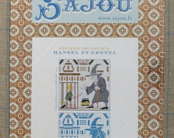 Hansel and Gretel - Grimm's fairy tale in cross stitch