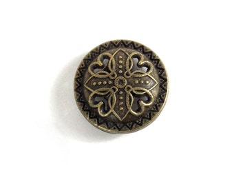 17mm Decoration button cap with 12mm snap button (633)