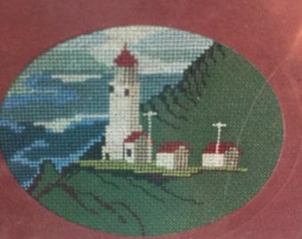 "Vintage 1982 Oregon Cross Stitch Original ""Heceta Head Light"", Oregon (Cross Stitch Pattern Only)"