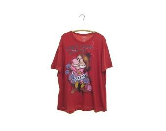 90s GRUMPY shirt grumpy dwarf tshirt snow white shirt seven dwarfs shirt Grumpy tshirt vintage Disney tee red Dont Mess With Me  1x xl