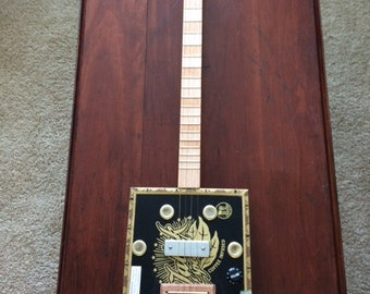 4 String Acoustic/Electric Cigar Box Guitar