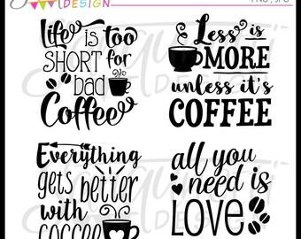 Coffee Clipart, Coffee clip art, Coffee Lettering, Coffee Word Art, Lettering Clipart, Instant Download