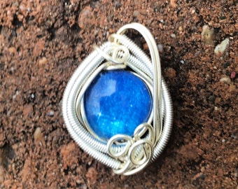 Galaxy wire wrapped pendant