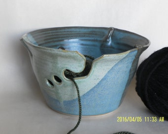 Turquoise and Green Yarn Bowl