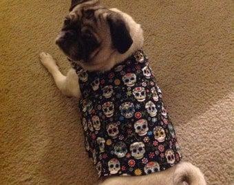 Sugar Skull dog vest