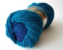 Premium acrylic yarn, Nako Ombre yarn, knitting mixed yarn, shades of blue and  violet color yarn. WInter yarns, Nako yarns, Color: 20318