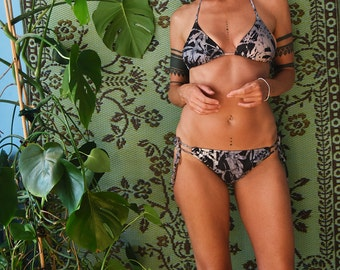 MOSELLE Classic String Triangle Bikini Top