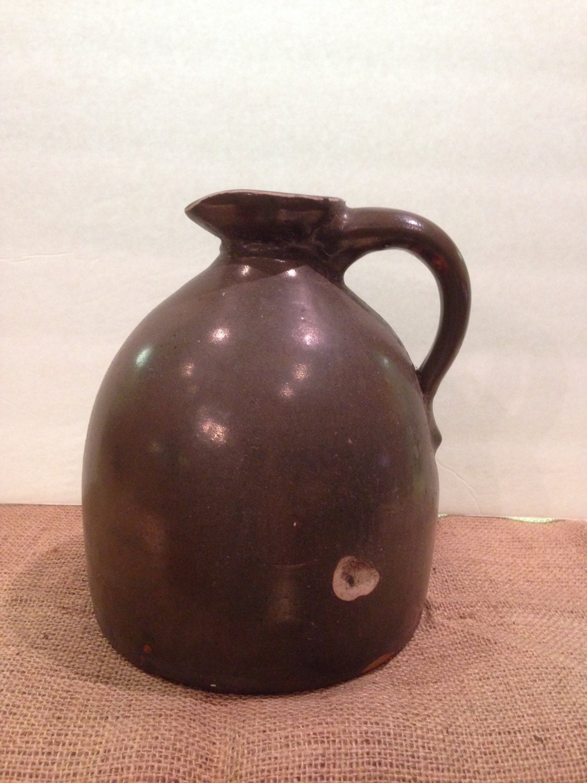Antique Molasses Sorghum Jug Primitive Beehive Crock 1