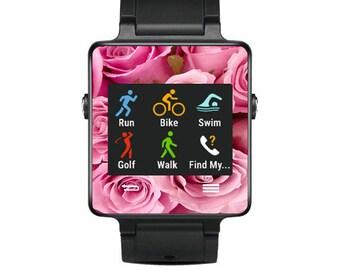 Skin Decal Wrap for Garmin Vivoactive Forerunner, Vivoactive Forerunner Hr Watch cover sticker Pink Roses
