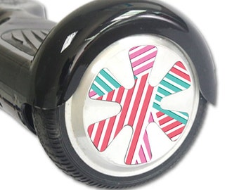 Skin Decal Wrap for Hoverboard Balance Board Scooter Wheels Pastel Stripes