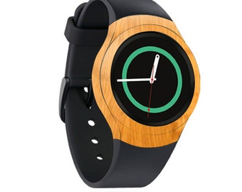 Skin Decal Wrap for Samsung Gear S2, S2 3G, Live, Neo S Smart Watch, Galaxy Gear Fit cover sticker Birch Wood Grain
